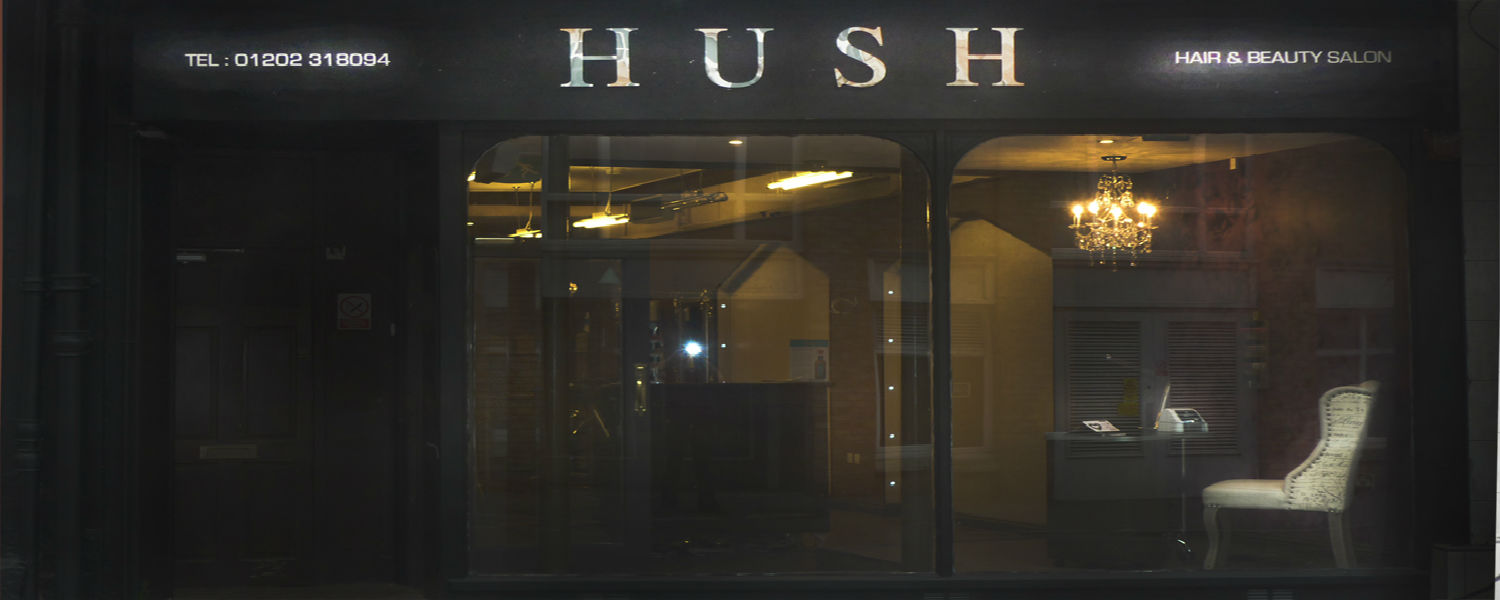 HUSH HAIR & BEAUTY logo